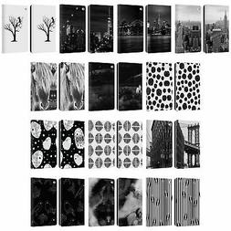OFFICIAL HAROULITA BLACK AND WHITE 4 LEATHER BOOK WALLET CAS