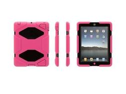 Griffin Pink/Black Survivor All-Terrain Case + Stand for iPa
