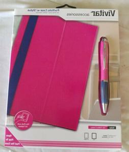 """Portfolio Case w/Stylus for iPad or 10"""" Tablet Devices New V"""