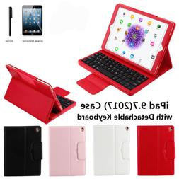PU Leather Bluetooth ipad Keyboard Case For iPad 6th Gen 9.7