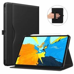MoKo PU Leather Business Folio Cover Hand Strap Smart Case f