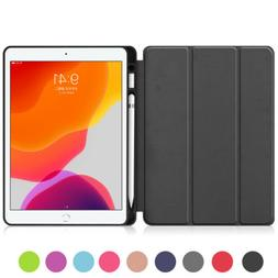 PU Leather Case with Pencil Holder For Apple iPad 7th Genera