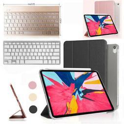 PU Leather Folio ipad pro Case + Bluetooth Keyboard For iPad