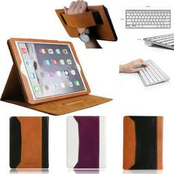 Real Leather Folio ipad pro Case Cover with BT Keyboard For