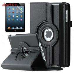 Rotating Stand Leather iPad Case Cover For iPad 2 3 4 5 Mini