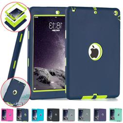 Rugged Rubber Defender Case For iPad 9.7 5th/6th gen Armor H