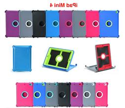 For iPad Mini 4 Shockproof Case Cover Triple Layer Stand Fit