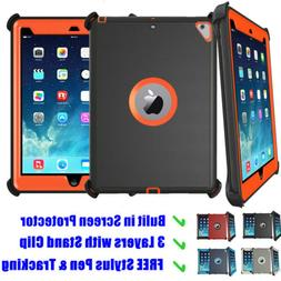 For iPad 2/3/4/5/6 Air Mini Shockproof Defender Case Stand C
