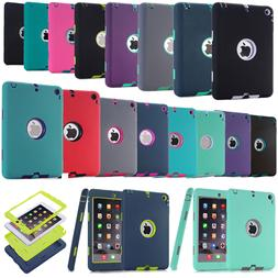 Shockproof Heavy Duty Hard Rugged Rubber Case For Apple iPad