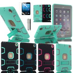 Shockproof Heavy Duty Hybrid Rubber Case Cover For iPad Mini