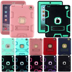 Shockproof Heavy Duty Rubber With Hard Stand Case Cover For