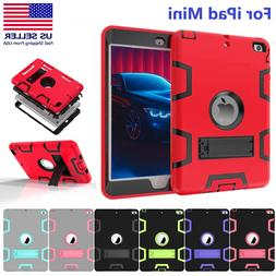 Shockproof Rubber Armor Heavy Duty Case Stand Cover for iPad