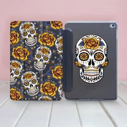 Skull iPad Pro 12.9 Smart Cover Flowers iPad Air 2 Hard Case