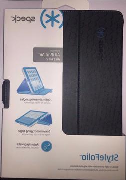 Speck STYLEFolio ipad Air 1 2 Case Stand RattleSkin Grey/blu