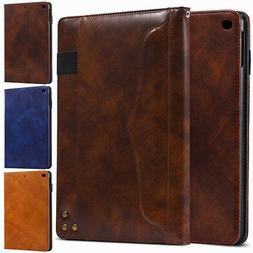 Synthetic Leather Wallet Smart Case Cover for New iPad 5th &
