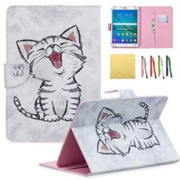 8.0 inch Tablet Universal Case, Coopts PU Leather Stand Foli
