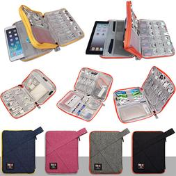 Travel Carry Case for iPad Tablet Cable Earphone Power Charg