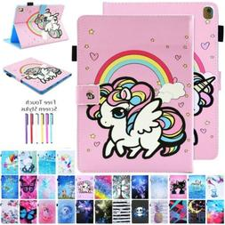 Unicorn Painted Synthetic Leather Soft Case For iPad 234 Min