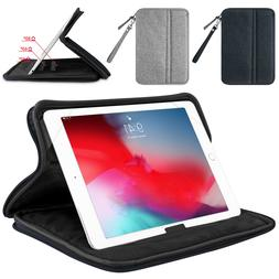 Universal 7-11'' Folio Stand Case Zippered Cover For iPad 6t
