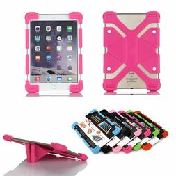 Universal Soft Sillicon Rubber Case Cover Skin Stand For iPa