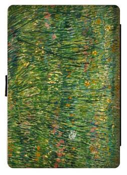 Rikki Knight Van Gogh Art Patch of Grass Design Black Snap P
