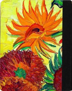 Rikki Knight Van Gogh Sunflowers Faux Leather Case for Apple
