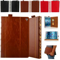 Vintage Book Leather Wallet Case For iPad 9.7 Pro 12.9 Pro 1