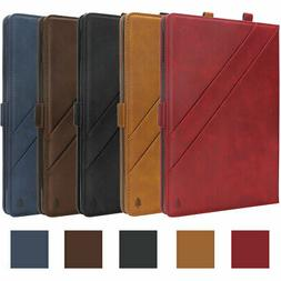 Vintage Leather Stand Case Wallet Protective Cover For iPad