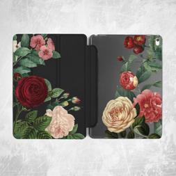 Vintage Rose Flower Floral Smart Case For iPad Pro 12.9 11 1