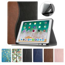 MoKo Auto Wake/Sleep Folio Stand Case Cover w/ Pencil Holder