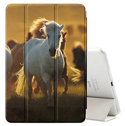 Graphic4You White Horse Animal Design Ultra Slim Case Smart