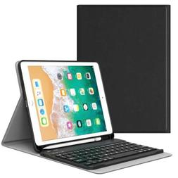 MoKo Wireless Keyboard Cover Stand Case for iPad 9.7 2018 w/